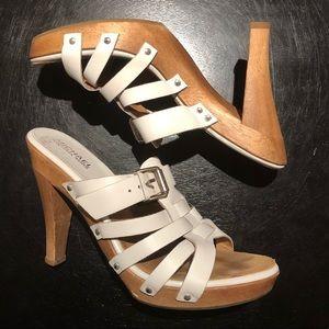 MICHAEL Michael Kors leather mule platform sandal